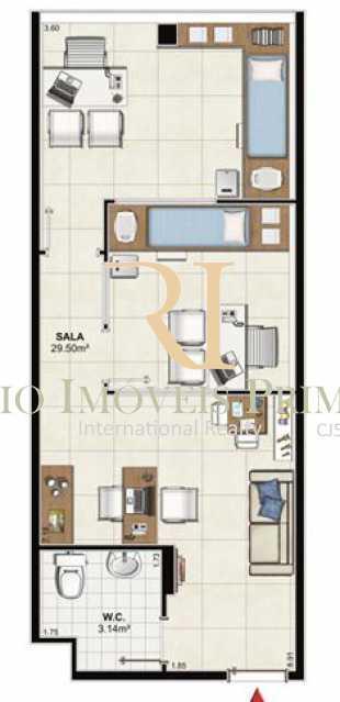 planta da sala - Sala Comercial 34m² à venda Barra Olímpica, Rio de Janeiro - R$ 209.000 - RPSL00007 - 13