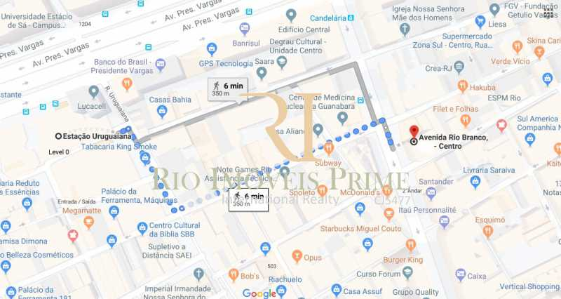 19 DISTANCIA METRO - Andar 359m² para venda e aluguel Avenida Rio Branco,Centro, Rio de Janeiro - R$ 2.706.000 - RPAN00002 - 20