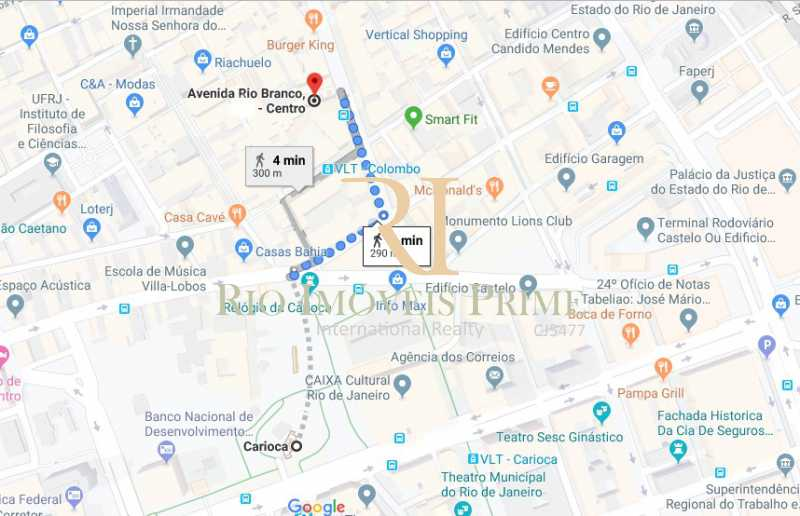 DISTANCIA METRO - Andar 400m² para venda e aluguel Avenida Rio Branco,Centro, Rio de Janeiro - R$ 2.655.000 - RPAN00003 - 17