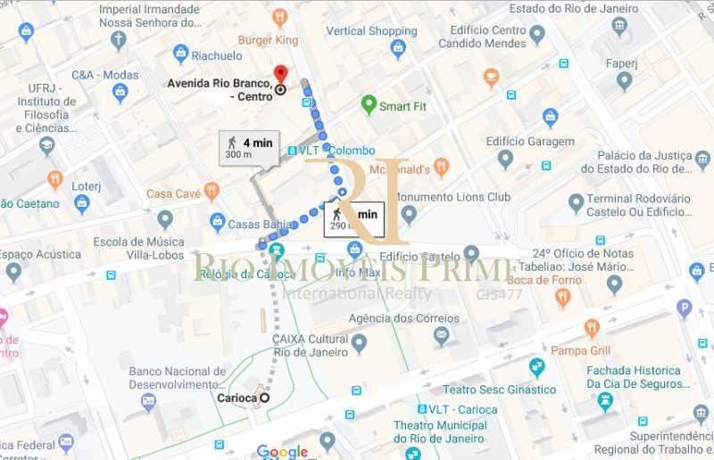 DISTANCIA METRO - Andar 354m² para venda e aluguel Avenida Rio Branco,Centro, Rio de Janeiro - R$ 2.655.000 - RPAN00004 - 17