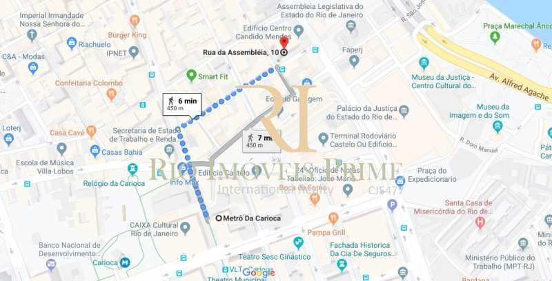 DISTANCIA METRO - Sala Comercial 175m² para venda e aluguel Rua da Assembléia,Centro, Rio de Janeiro - R$ 1.217.000 - RPSL00009 - 18