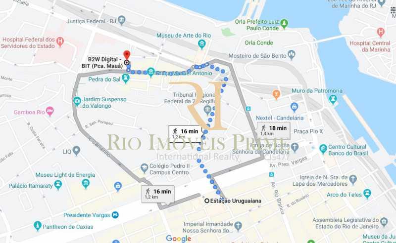 DISTANCIA METRO - Sala Comercial 27m² para venda e aluguel Rua Sacadura Cabral,Saúde, Rio de Janeiro - R$ 97.999 - RPSL00019 - 15