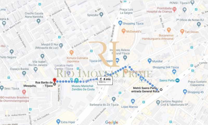 DISTANCIA METRO - Apartamento à venda Rua Barão de Mesquita,Tijuca, Rio de Janeiro - R$ 499.900 - RPAP20147 - 20