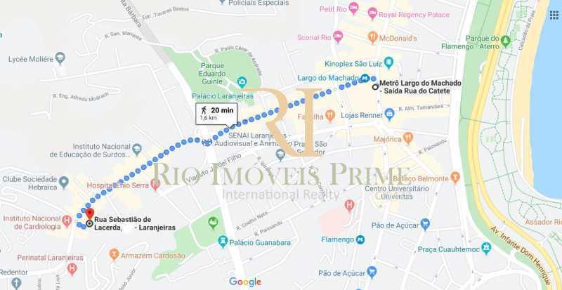 DISTANCIA METRO - Apartamento para alugar Rua das Laranjeiras,Laranjeiras, Rio de Janeiro - R$ 2.600 - RPAP10055 - 21