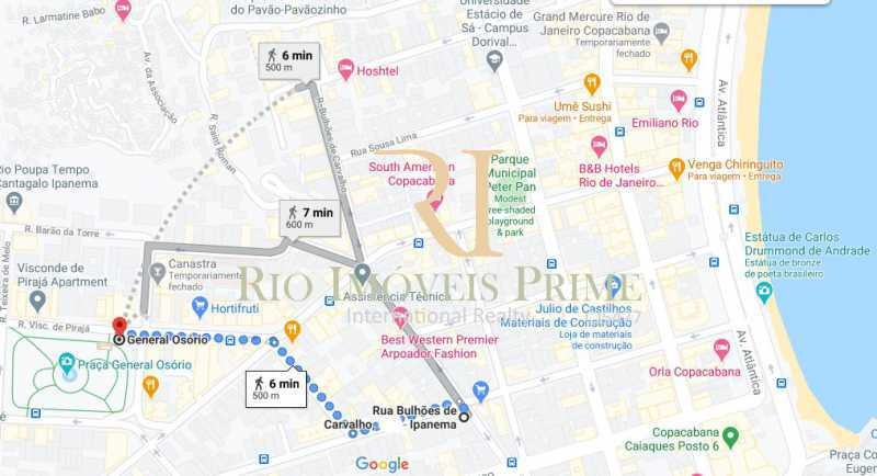 DISTANCIA METRO - Apartamento à venda Avenida Rainha Elizabeth da Bélgica,Ipanema, Rio de Janeiro - R$ 1.299.990 - RPAP30116 - 21