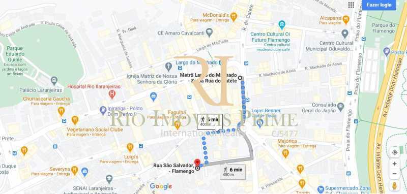 DISTANCIA METRO - Apartamento à venda Rua São Salvador,Flamengo, Rio de Janeiro - R$ 599.990 - RPAP20205 - 19