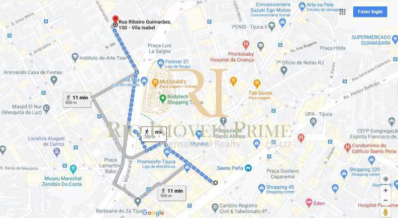 DISTANCIA METRO - Apartamento à venda Rua Ribeiro Guimarães,Tijuca, Rio de Janeiro - R$ 459.900 - RPAP20207 - 21