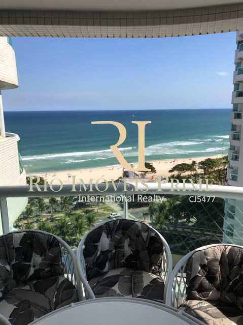 VARANDA -LINDA VISTA MAR - Flat 1 quarto à venda Barra da Tijuca, Rio de Janeiro - R$ 749.900 - RPFL10014 - 1