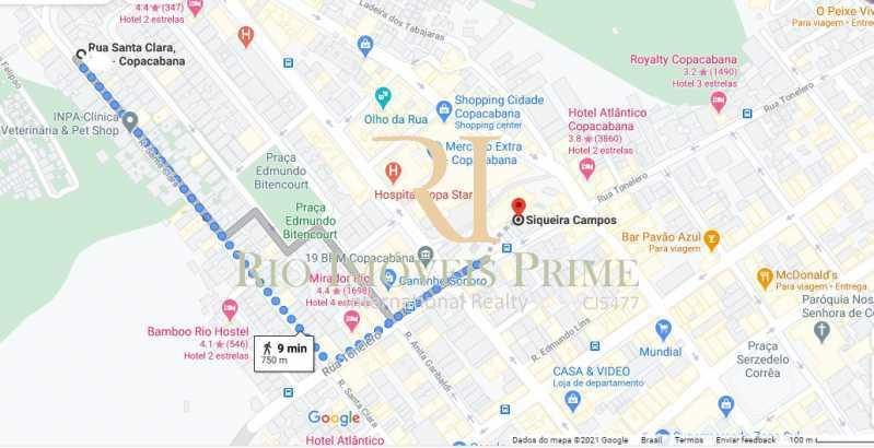 DISTÂNCIA METRÔ - Apartamento à venda Rua Santa Clara,Copacabana, Rio de Janeiro - R$ 1.399.900 - RPAP20224 - 21