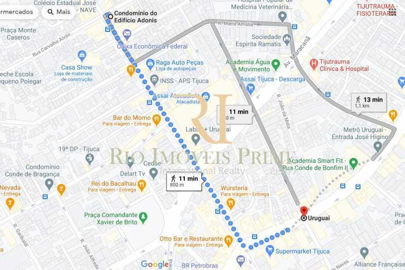 DISTÂNCIA METRÔ - Apartamento à venda Rua Carvalho Alvim,Tijuca, Rio de Janeiro - R$ 390.000 - RPAP20227 - 21