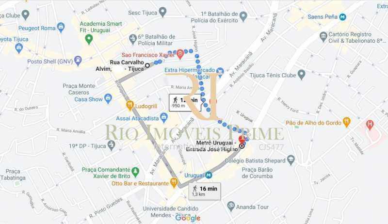 DISTÂNCIA METRÔ - Apartamento 3 quartos à venda Tijuca, Rio de Janeiro - R$ 812.000 - RPAP30139 - 18
