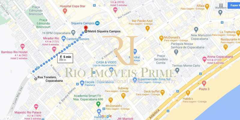 DISTÂNCIA METRÔ - Apartamento 3 quartos à venda Copacabana, Rio de Janeiro - R$ 1.650.000 - RPAP30147 - 20