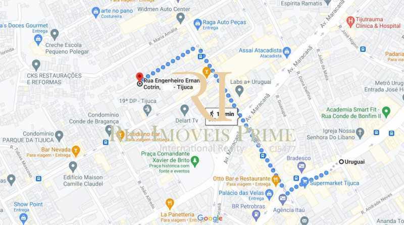DISTANCIA METRO - Apartamento para venda e aluguel Rua Engenheiro Ernani Cotrim,Tijuca, Rio de Janeiro - R$ 410.000 - RPAP20240 - 19
