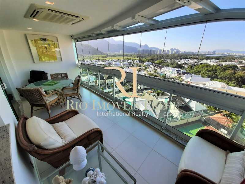 VARANDA - Apartamento 3 quartos à venda Barra da Tijuca, Rio de Janeiro - R$ 1.590.000 - RPAP30157 - 1