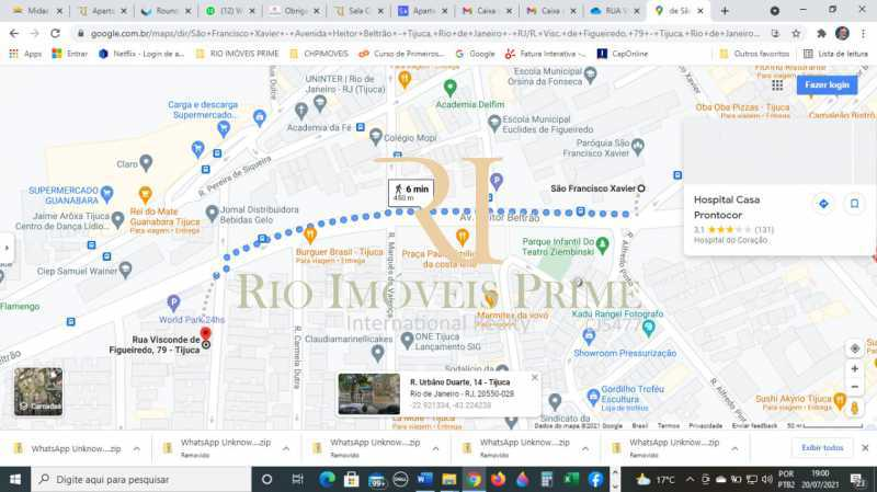 DISTÂNCIA METRÔ. - Apartamento à venda Rua Visconde de Figueiredo,Tijuca, Rio de Janeiro - R$ 360.000 - RPAP10062 - 19