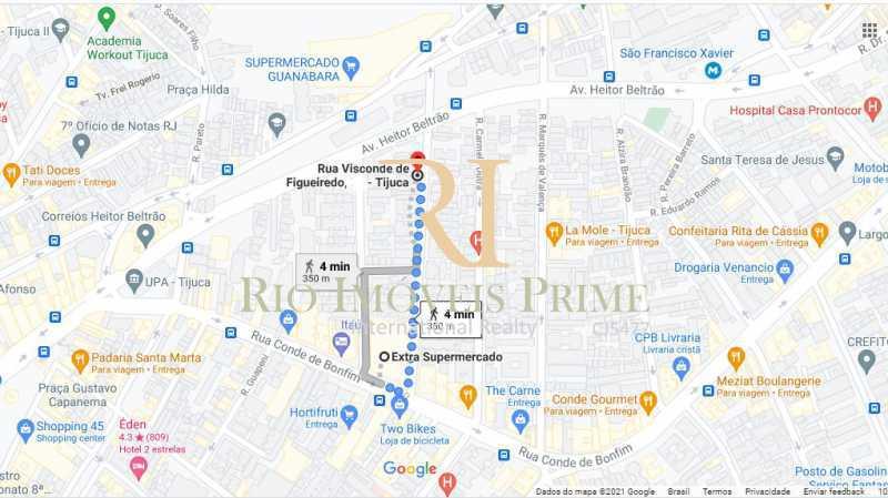 DISTANCIA SUPERMERCADO EXTR - Apartamento à venda Rua Visconde de Figueiredo,Tijuca, Rio de Janeiro - R$ 360.000 - RPAP10062 - 20