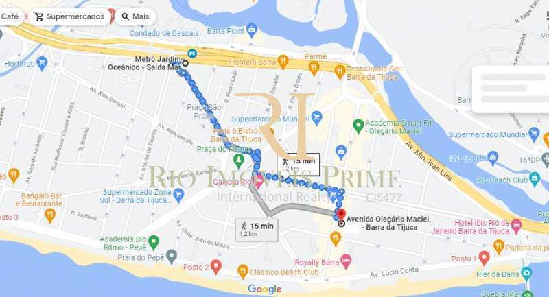 DISTÂNCIA METRÔ - Sala Comercial 77m² à venda Avenida Olegário Maciel,Barra da Tijuca, Rio de Janeiro - R$ 580.000 - RPSL00028 - 20