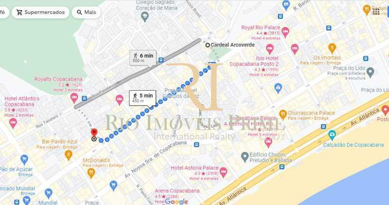 DISTÂNCIA METRÔ ARCOVERDE - Loja 31m² para venda e aluguel Rua Paula Freitas,Copacabana, Rio de Janeiro - R$ 280.000 - RPLJ00006 - 15
