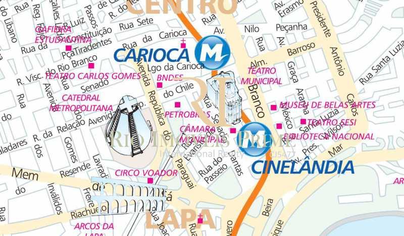 DISTÂNCIA METRÔ - Sala Comercial 59m² à venda Centro, Rio de Janeiro - R$ 264.900 - RPSL00002 - 22