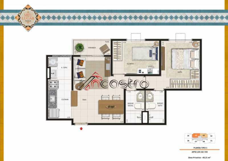 Planta 2 - Fachada - Meu Lugar Residencial - 20 - 15