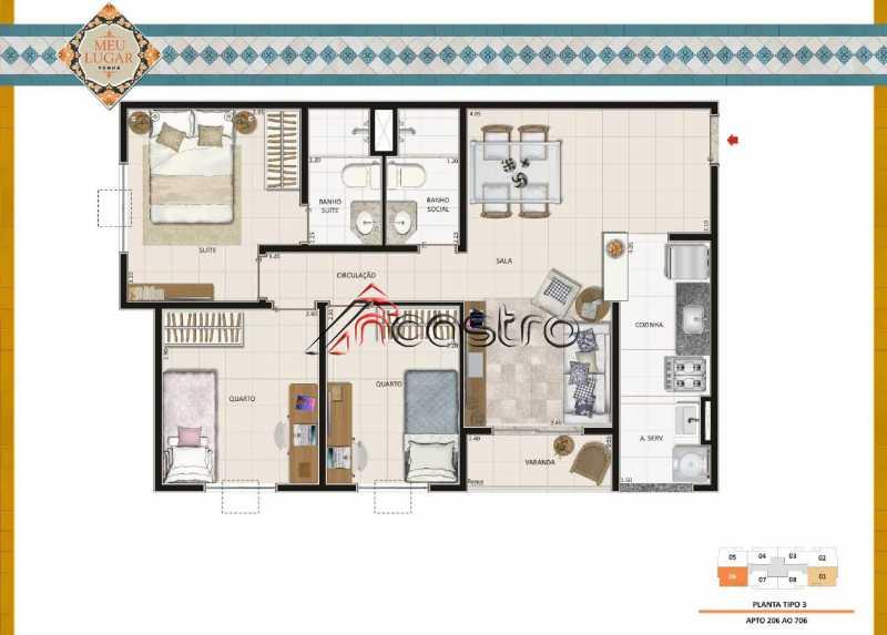 Planta 3 - Fachada - Meu Lugar Residencial - 20 - 16