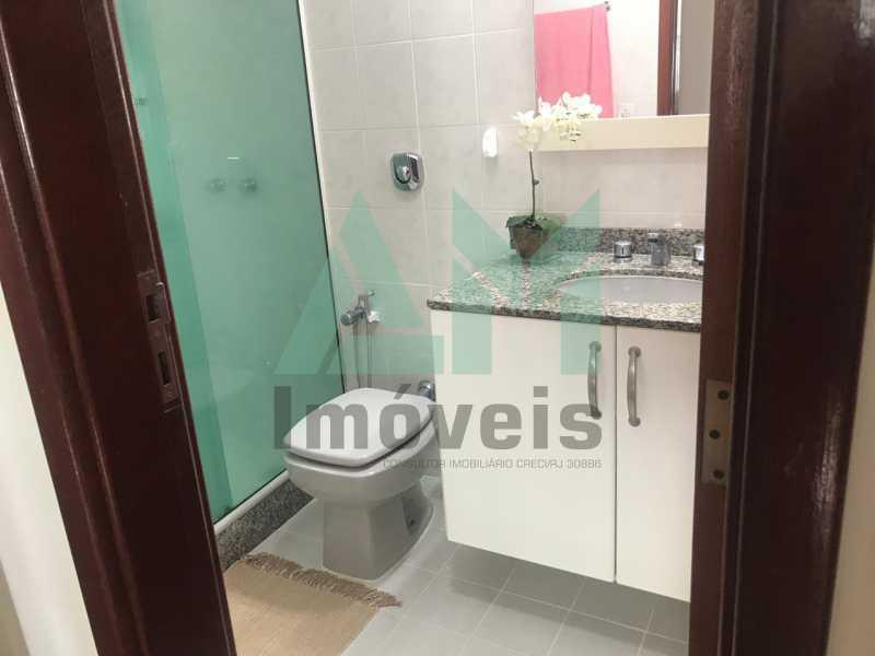 Banheiro Social - Cobertura À Venda - Tijuca - Rio de Janeiro - RJ - 1080 - 18