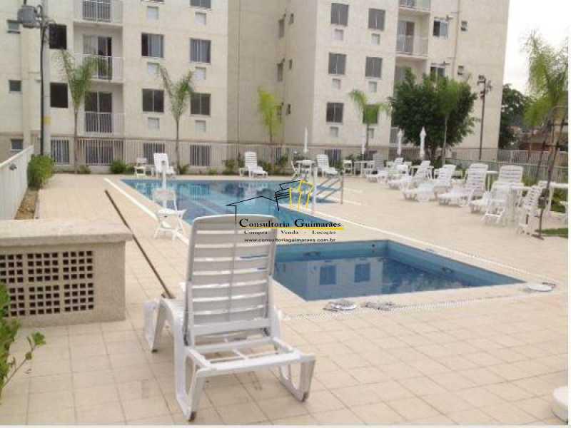 piscina - Apartamento 2 quartos para alugar Taquara, Rio de Janeiro - R$ 750 - CGAP20182 - 1