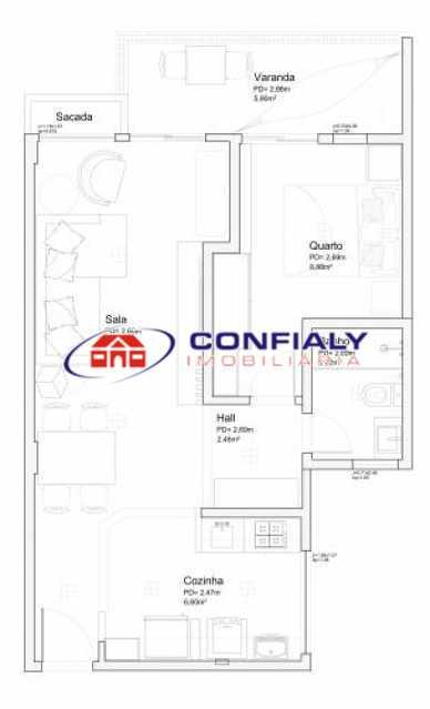 fotos-44 - Apartamento 1 quarto à venda Benfica, Rio de Janeiro - R$ 219.000 - MLAP10016 - 19