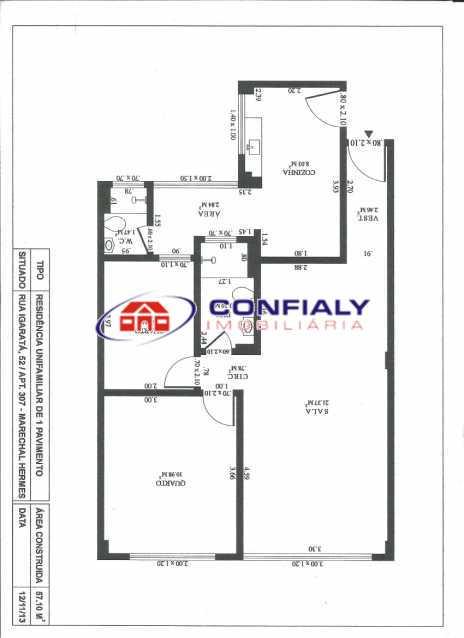 b3f10df9-a477-4f48-a954-54f5d3 - Apartamento à venda Rua Igarata,Marechal Hermes, Rio de Janeiro - R$ 280.000 - MLAP20165 - 15