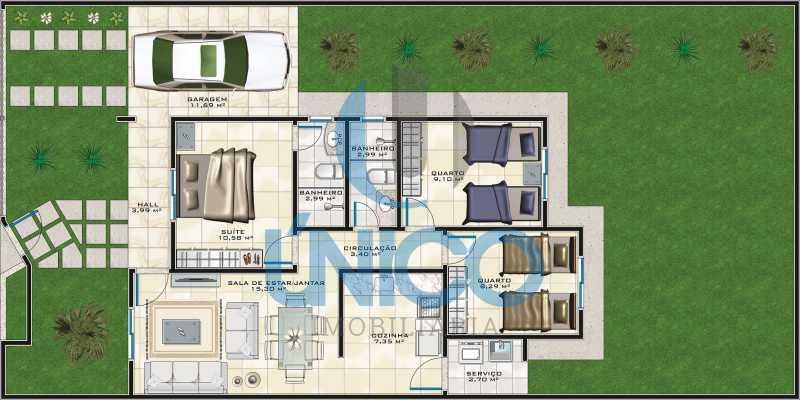 HUMANIZAÇÃO - Cópia - Casa no Sunville 02 com 3/4 sendo 1 suíte. - MTCA30004 - 3