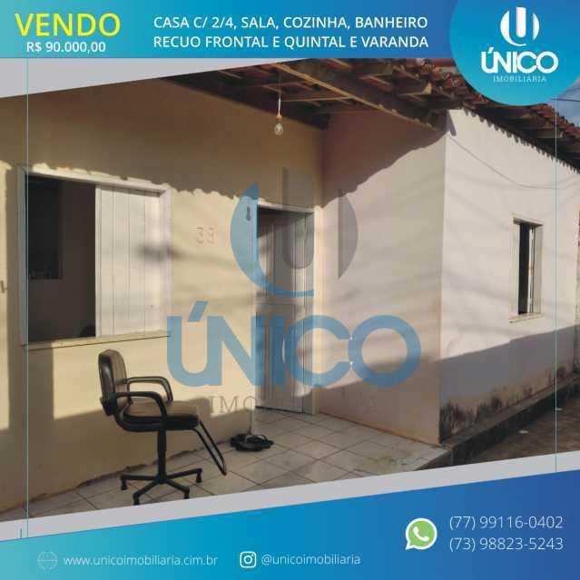 WhatsApp Image 2020-09-01 at 1 - Casa com 2/4, sala, cozinha, banheiro, quintal e varanda. - MTCA20005 - 1