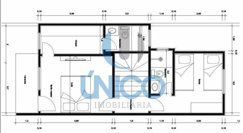 PLANTA SUPERIOR. jpg - Casa residencial para Venda Sun Ville II, Jequié 3 dormitórios sendo 1 suíte, 1 sala, 2 banheiros, 2 vagas 97,00 m² construída, 100,00 m² total Sem Piscina 210 mil Com Piscina 240 mil - MTCA30008 - 17