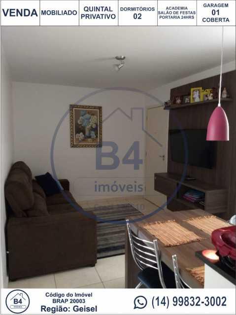 1 - Apartamento 2 quartos à venda Reserva Belas Nações, Bauru - R$ 185.000 - BRAP20003 - 1