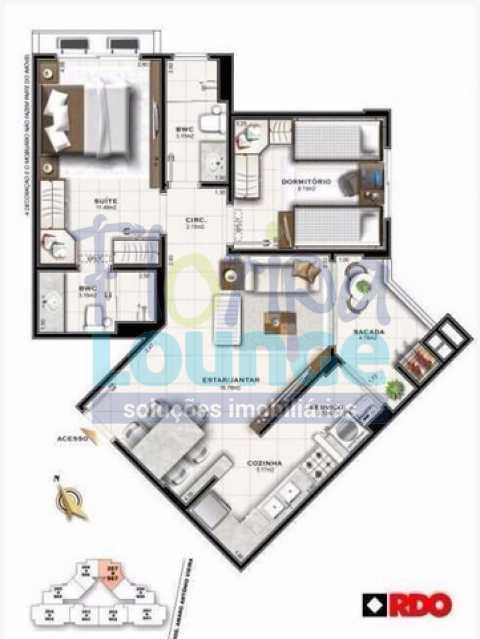 PLANTA - Apartamento 2 quartos à venda Itacorubi, Florianópolis - R$ 569.999 - TRI2AP2222 - 20