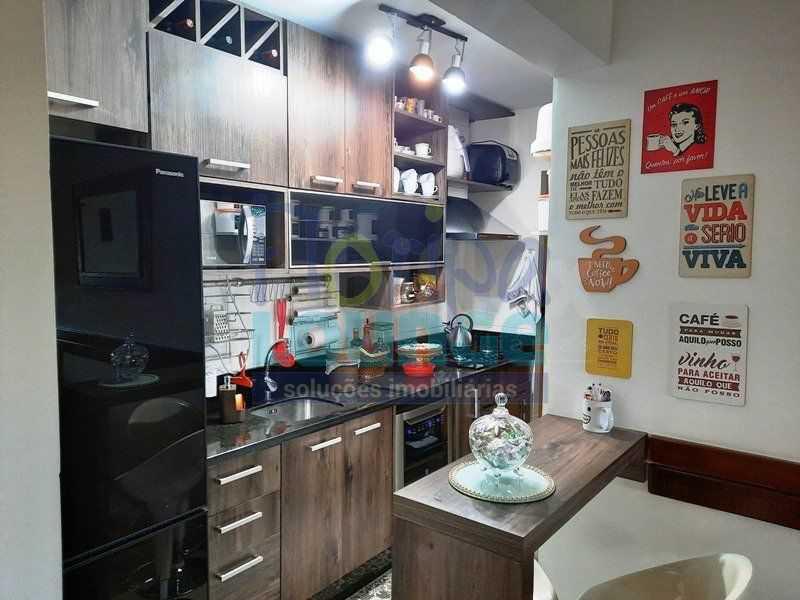 COZINHA - Excelente apartamento a venda, com 2 quartos, semi mobiliado, no bairro Saco dos Limões. - SDL2AP2199 - 9