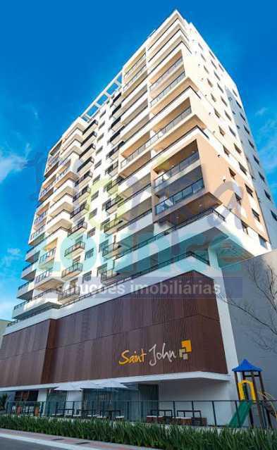 FACHADA - Excelente Apto , andar alto com vista panorâmica , com 3 quartos sendo 1 suite e 3 banheiros. - KOB3AP2272 - 13
