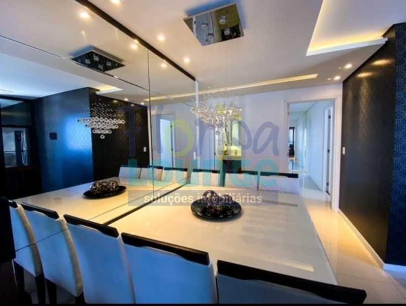 SALA DE JANTAR - Excelente Apto , andar alto com vista panorâmica , com 3 quartos sendo 1 suite e 3 banheiros. - KOB3AP2272 - 4