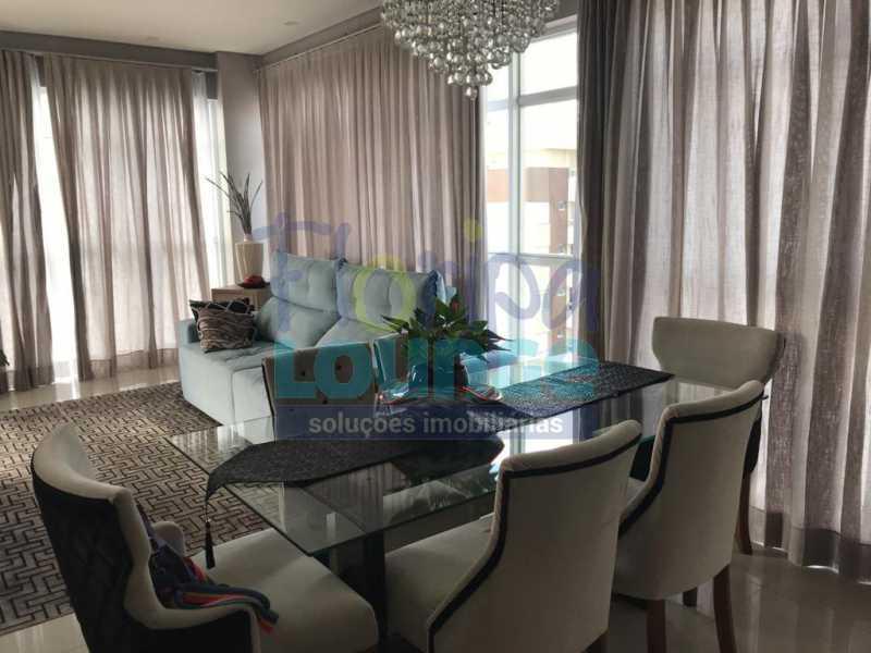 Sala com Linda Vista - Apartamento com 3 dormitórios,sendo 1 suíte e duas demi-suíte - AGR3AP2060 - 1