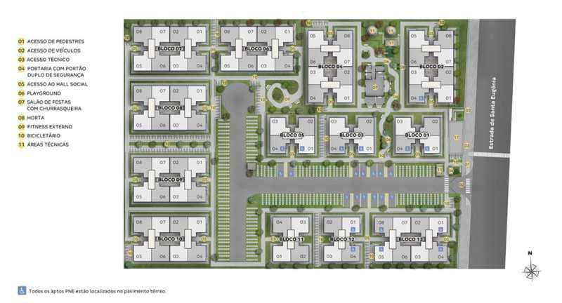 implantação - Fachada - Jardim Hibisco a partir de 126.000 - 44 - 5