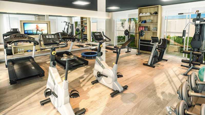 Fitness- Academia - Fachada - Residencial Apogeu Barra a partir de 230.000 - 51 - 5