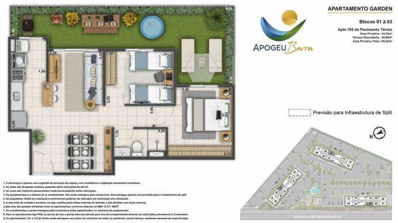 Planta-Apartamento-Garden-44.3 - Fachada - Residencial Apogeu Barra a partir de 230.000 - 51 - 10