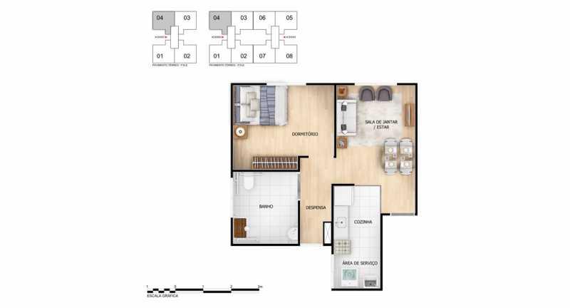 planta 1 qto - Apartamento à venda Rio de Janeiro,RJ - R$ 140.000 - MTAP00007 - 8