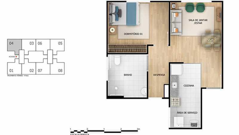 planta 1 qto - Apartamento à venda Rio de Janeiro,RJ - R$ 180.000 - MTAP00010 - 10