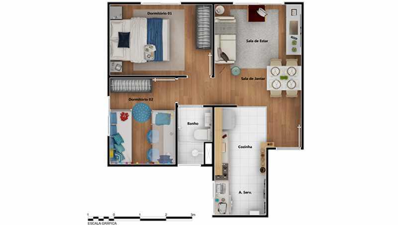 Planta 2 qtos - Apartamento à venda Rio de Janeiro,RJ - R$ 180.000 - MTAP00010 - 11