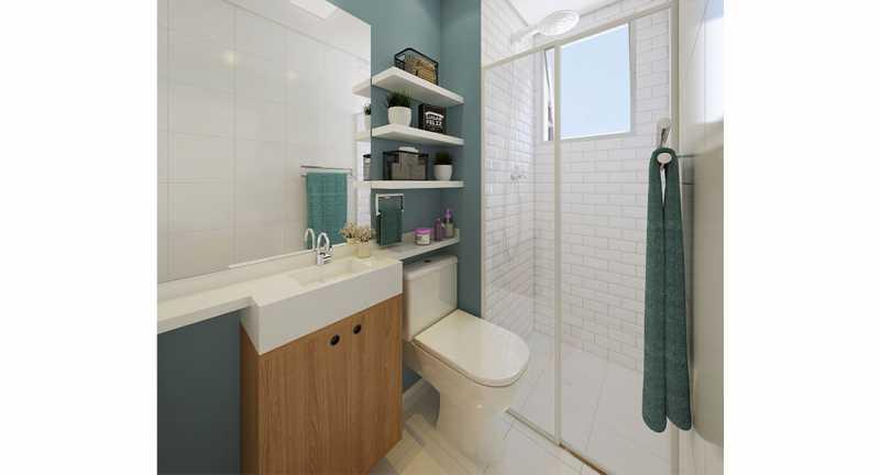 Banheiro Social - Apartamento à venda Rio de Janeiro,RJ - R$ 193.333 - MTAP00012 - 7