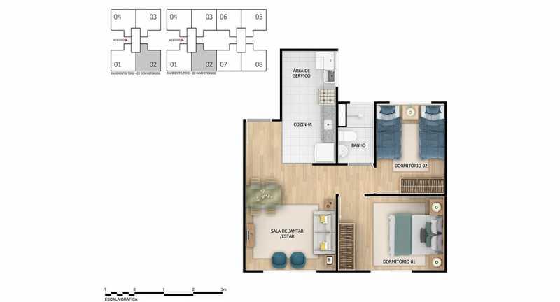 Planta 2 qtos - Apartamento à venda Rio de Janeiro,RJ - R$ 193.333 - MTAP00012 - 11