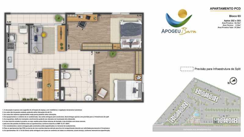 Planta-Apartamento-PCD-54.19-m - Apartamento à venda Rio de Janeiro,RJ - R$ 230.000 - MTAP00015 - 9