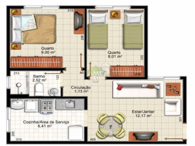 FOTO7 - Apartamento 2 quartos à venda Rio de Janeiro,RJ - R$ 125.000 - AP0051 - 9