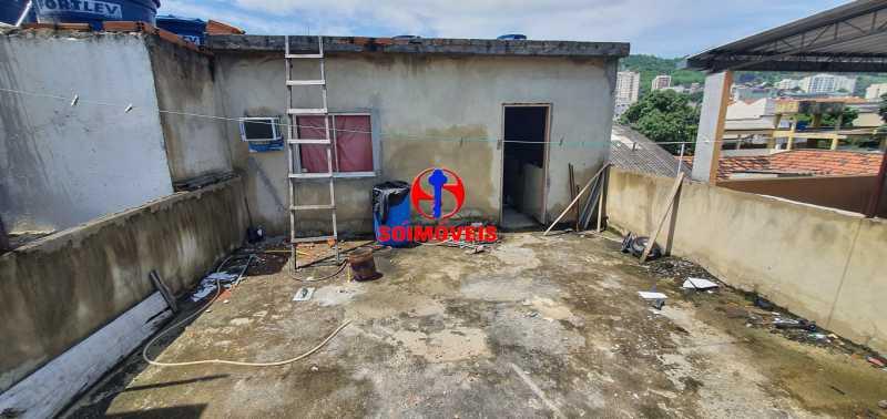TERRAÇO - Casa de Vila 7 quartos à venda Rocha, Rio de Janeiro - R$ 270.000 - TJCV70003 - 18