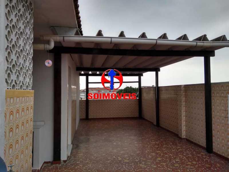 TERRAÇO - Casa de Vila 3 quartos à venda Bonsucesso, Rio de Janeiro - R$ 370.000 - TJCV30048 - 16